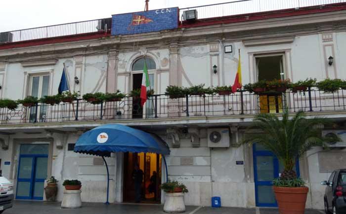 La sede del Circolo Canottieri Napoli