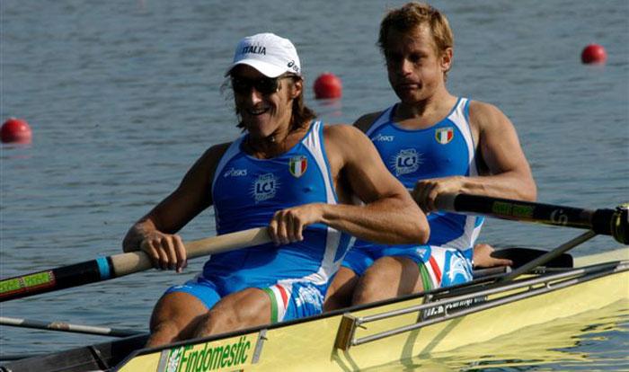 Mario Palmisano e Mattia Trombetta, campioni del mondo nel 2004