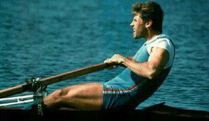 Vincenzo Triunfo durante un allenamento in gioventù