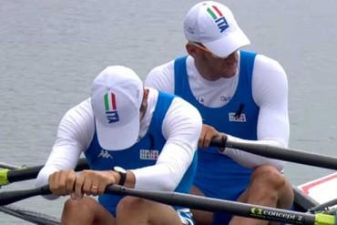 Romano Battisti e Alessio Sartori in partenza