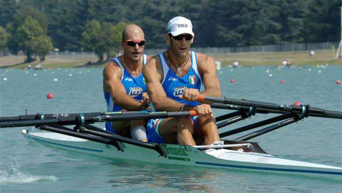Rossano Galtarossa e Alessio Sartori, bronzo ad Atene 2004. Foto di Mimmo Perna