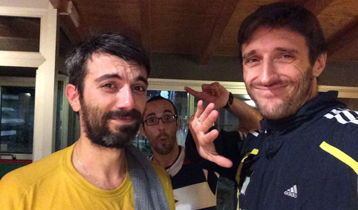 Giuseppe Lamanna (a sinistra), Stefano Lo Cicero (al centro) e Mario Palmisano (a destra)