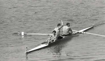Il due con Campione Olimpico di Primo Baran, Renzo Sambo e Bruno Cipolla