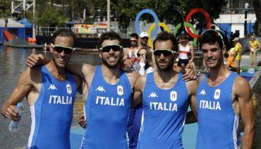 Il 4 senza pesi leggeri 4° alle Olimpiadi di Rio Da sinistra: Martino Goretti, Livio La Padula, Pietro Ruta e Stefano Oppo