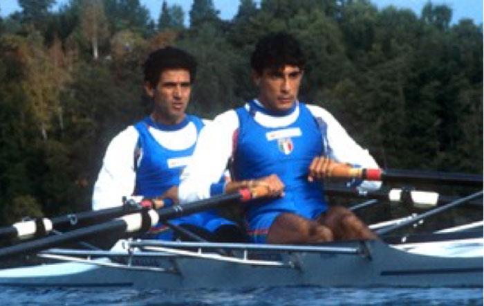 Il doppio Francesco Esposito (prodiere) e Michelangelo Crispi ai mondiali di Indianapolis del 1994. Prima volta di un doppio pl a un mondiale